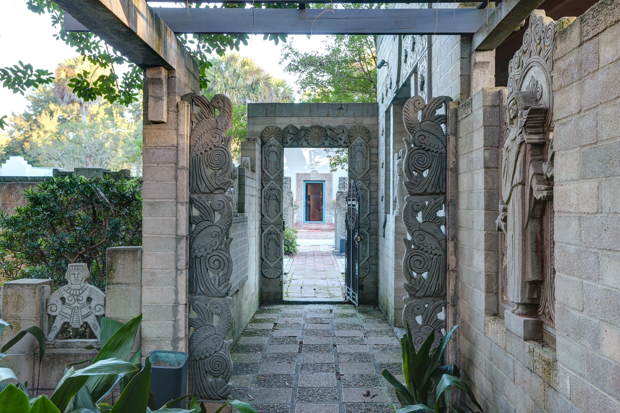 Image of the Mayan Courtyard entrance
