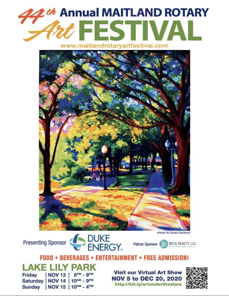 Maitland Rotary Art Festival Flyer